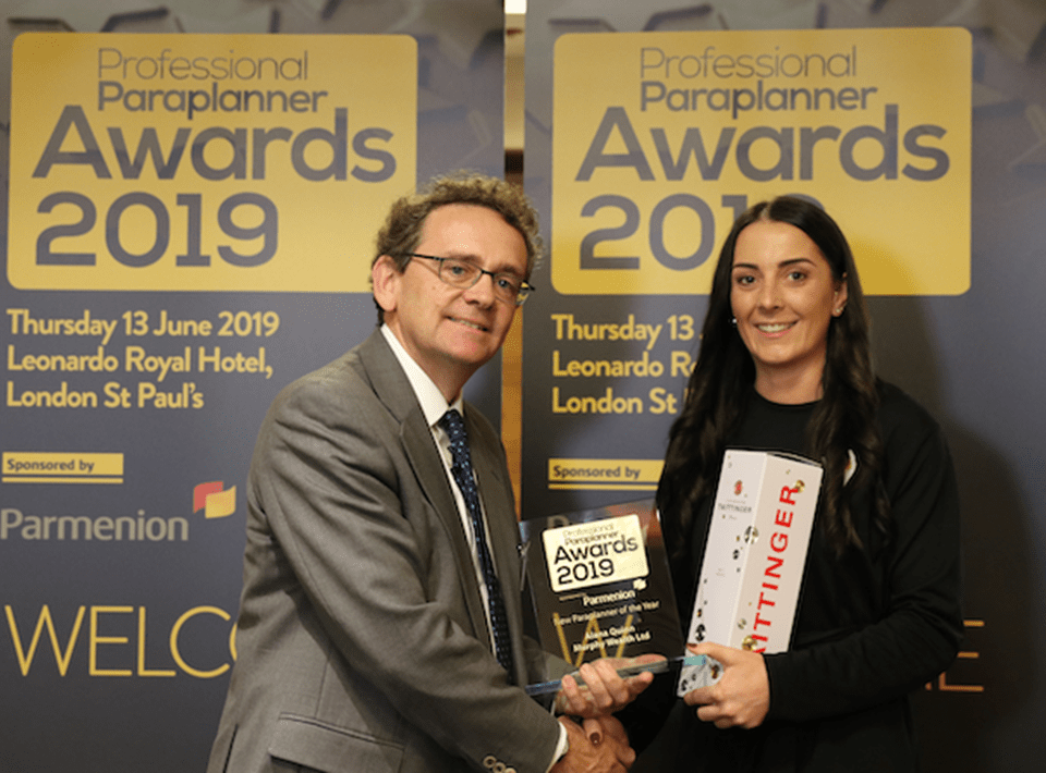 Client Manager Alana Quinn wins 'New Paraplanner of the Year' Award